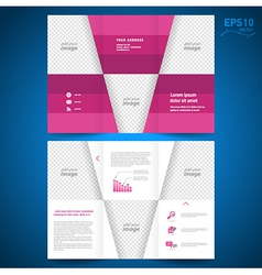 Brochure leaflet geometric abstract vector