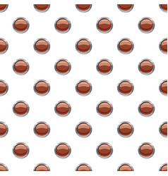 brown button pattern vector image vector image