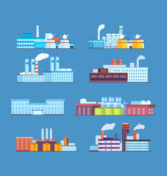 Buildings industrial chemical helium plant oil vector