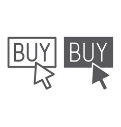 Buy now line and glyph icon shopping and commerce vector