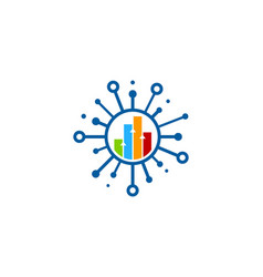 Chart share logo icon design vector