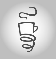 coffee cup with a spring symbol icon vector image