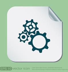 cogwheel icon setting and repair symbol settings vector image
