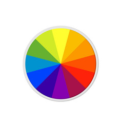 Color scheme circle combination in flat vector