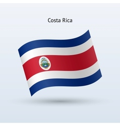 Costa Rica flag waving form vector