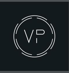 Creative letter vp logo creative typography vector