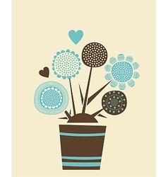 Decorative Flowers Pot vector image