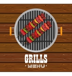 Delicious barbecue food icon vector