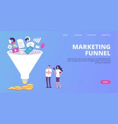 digital marketing sales funnel funnel vector image