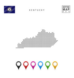 Dots pattern map kentucky stylized silhouette vector