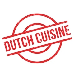 Dutch cuisine rubber stamp vector