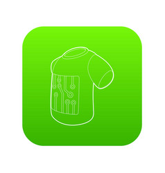 Electronic t-shirt icon green vector