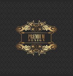 elegant background design with premium logo vector image