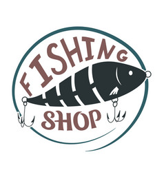 fishing shop vector image