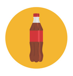 Flat-icon-coke-bottle-plastic vector