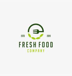 food restaurant logo design template vector image