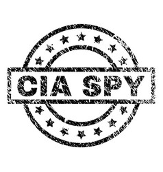 Grunge textured cia spy stamp seal vector