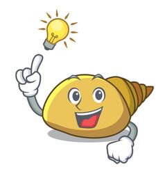 Have an idea mollusk shell mascot cartoon vector