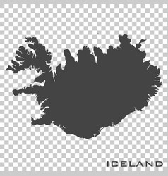 Icon map iceland on transparent background vector
