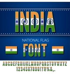 India Flag Font vector