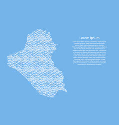 iraq map abstract schematic from white ones and vector image