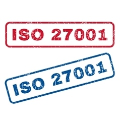 ISO 27001 Rubber Stamps vector