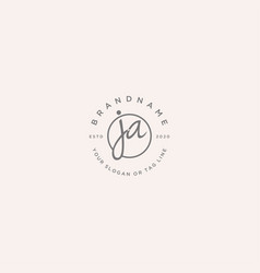 Ja letter feminine logo design vector