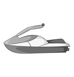 Jet ski icon gray monochrome style vector