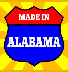 Made in alabama shield vector