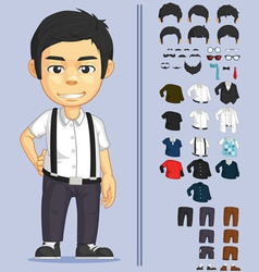 Man Customizable Character vector image
