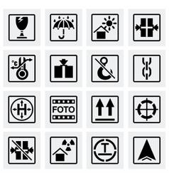 Marking cargo icon set vector