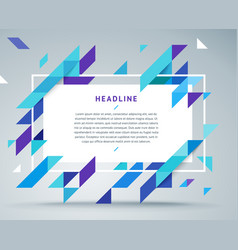 modern bright dynamic stylish geometric frame vector image