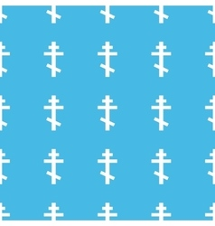 Orthodox cross straight pattern vector