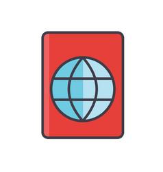 Passport travel visa stamp migration concept vector