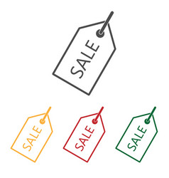 price tag icon set flat vector image