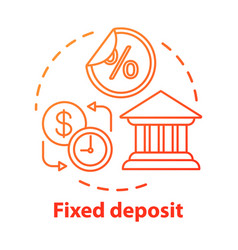 Savings concept icon fixed deposit idea thin line vector