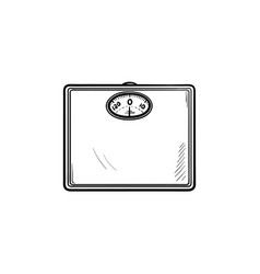 scales hand drawn outline doodle icon vector image