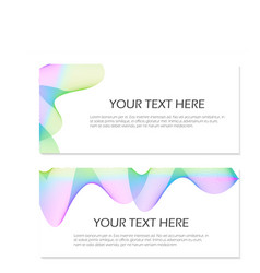 set of templates with blend liqud colors vector image