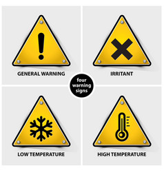 set warning symbols vector image