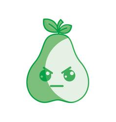 Silhouette kawaii nice angry pear icon vector