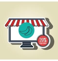 smartphone buy online fruit vector image