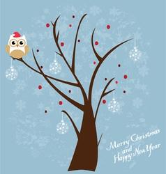 Snow fun owl vector