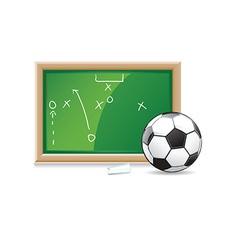 Soccer playboard vector image
