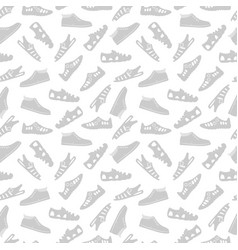 Sport footwear seamless pattern vector