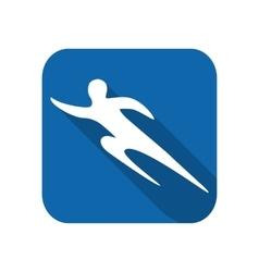 Sportsman man runner silhouette vector image