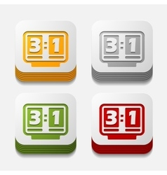 Square button score board vector