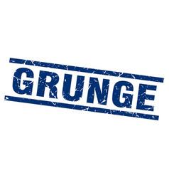 Square grunge blue grunge stamp vector