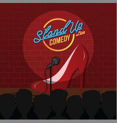 Stand up comedy sexy female comic ladies night vector