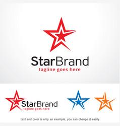Star brand logo template design vector