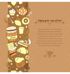 tea for template card vector image